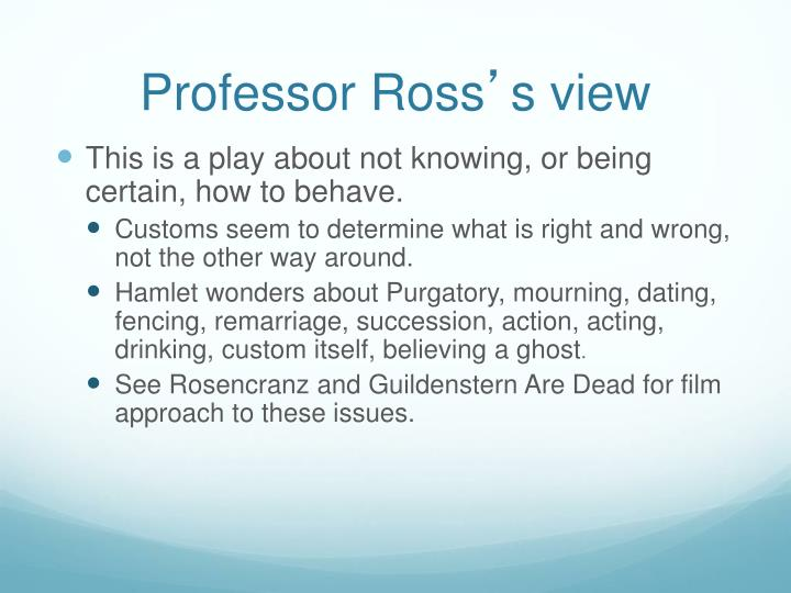 Professor Ross