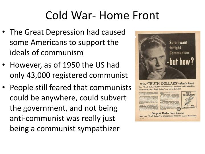 Cold War- Home Front