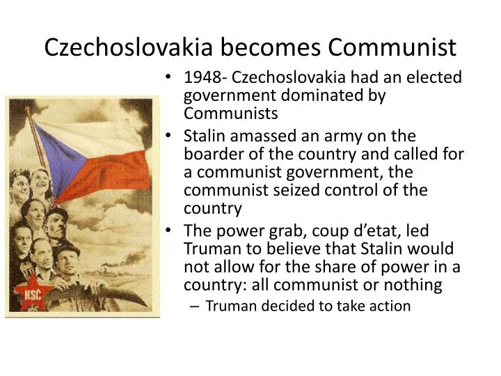 Czechoslovakia becomes Communist