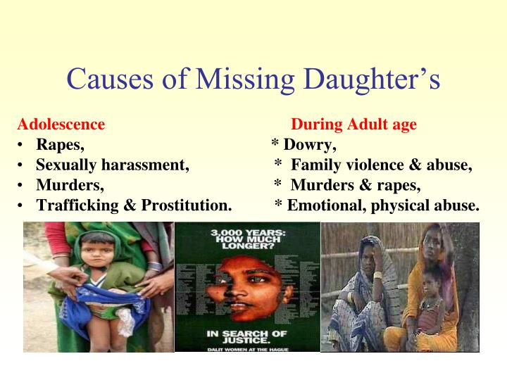 Causes of Missing Daughter's