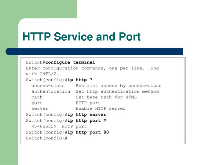 HTTP Service and Port