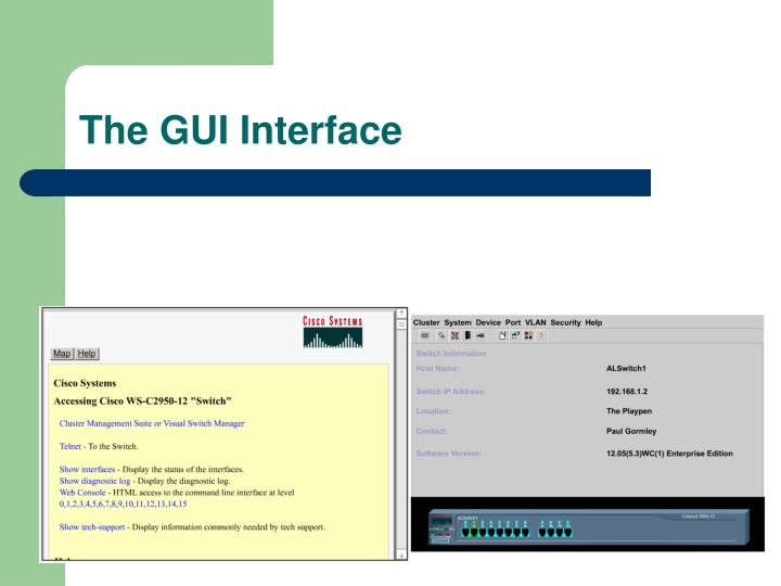 The GUI Interface