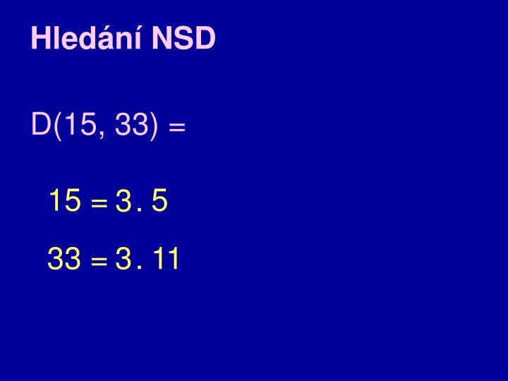 Hledání NSD