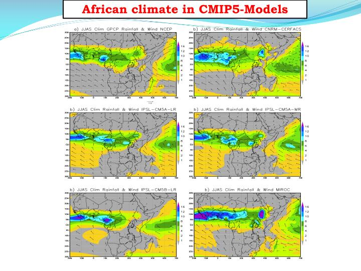 African climate in CMIP5-Models