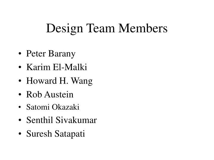 Design Team Members
