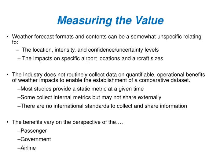 Measuring the value1