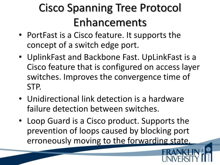 Cisco Spanning Tree Protocol Enhancements