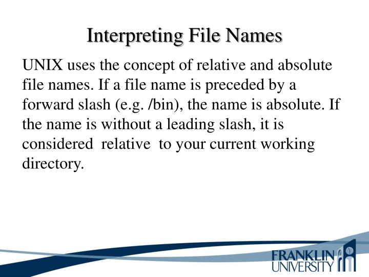 Interpreting File Names