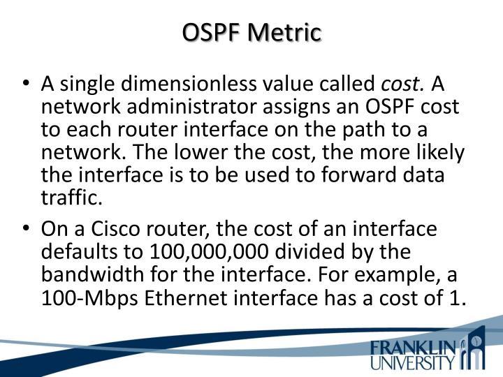 OSPF Metric