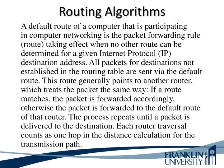 Routing Algorithms