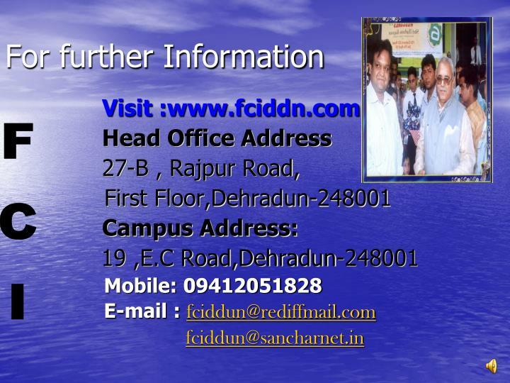 Visit :www.fciddn.com
