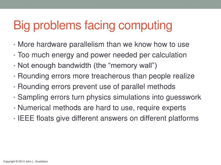 Big problems facing computing