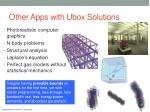 other a pps with ubox s olutions