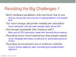 revisiting the big challenges 1