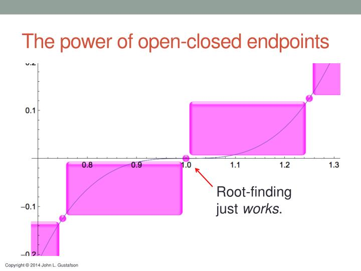 The power of open-closed endpoints