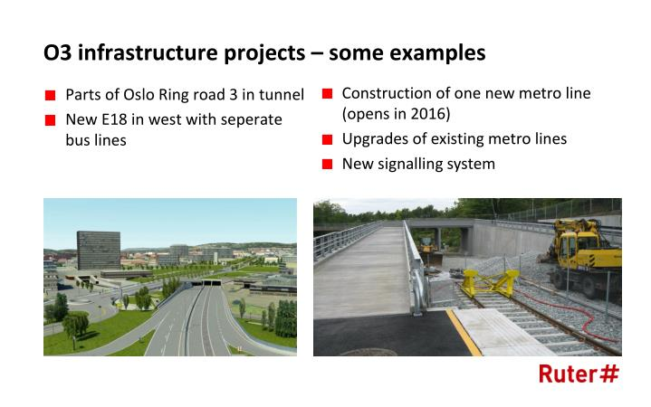 O3 infrastructure projects – some examples