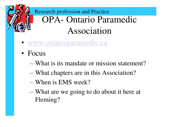 OPA- Ontario Paramedic Association