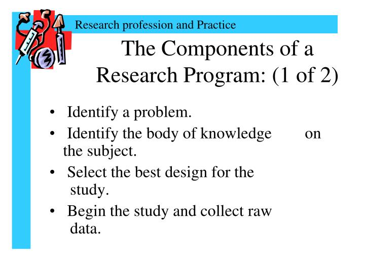 The Components of a Research Program: (1 of 2)