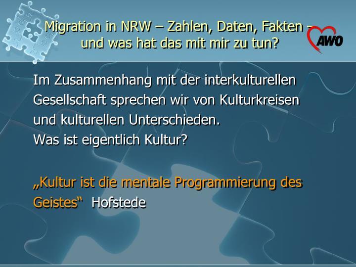 Migration in NRW – Zahlen, Daten, Fakten –