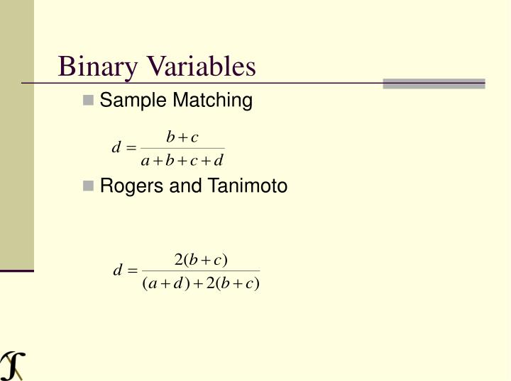 Binary Variables