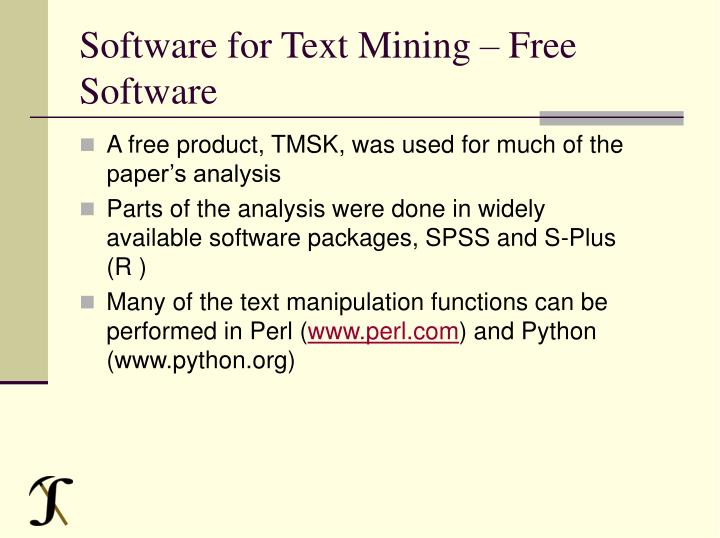 Software for Text Mining – Free Software