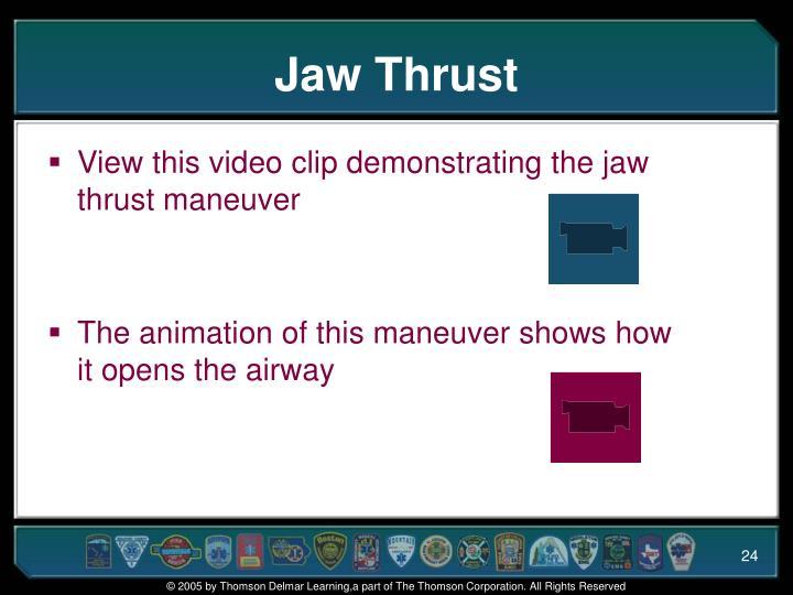 Jaw Thrust