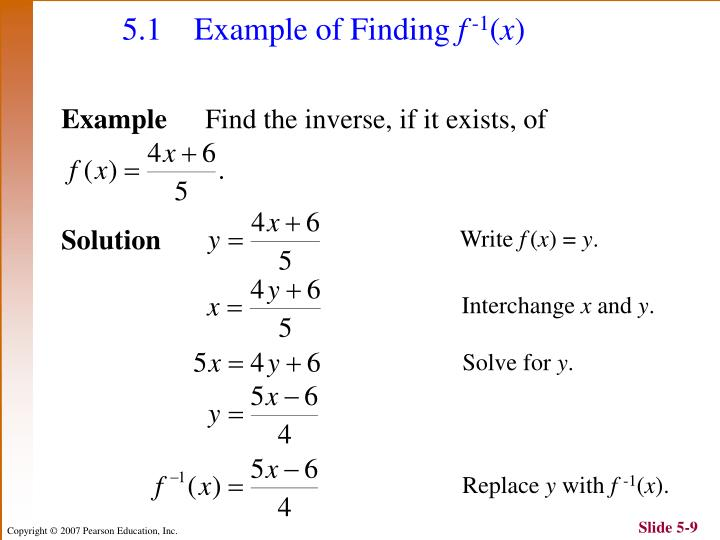 5.1 	Example of Finding