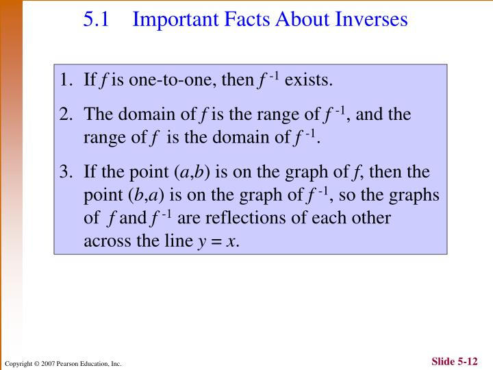 5.1 Important Facts About Inverses