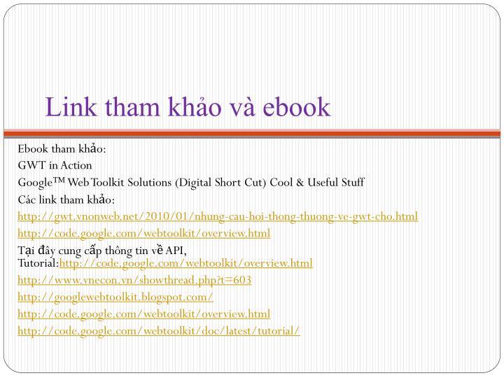 Link tham khảo và ebook