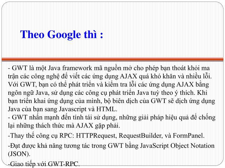 Theo Google thì :