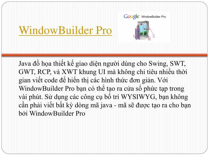 WindowBuilder Pro