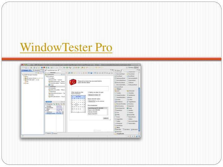 WindowTester Pro
