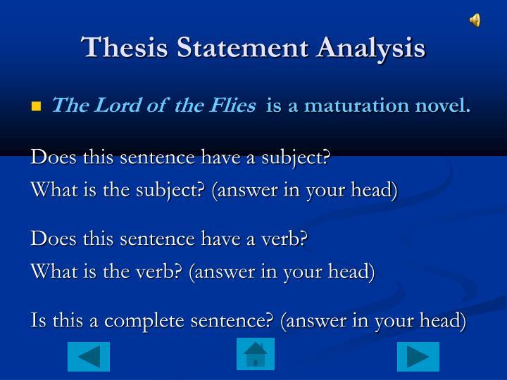 Thesis Statement Analysis