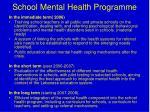 school mental health programme