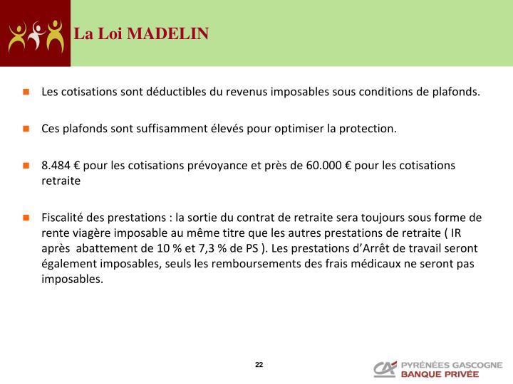 La Loi MADELIN
