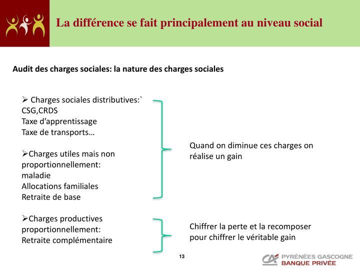 La différence se fait principalement au niveau social