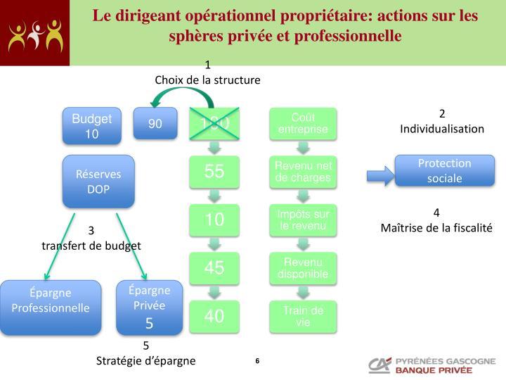 Le dirigeant opérationnel propriétaire: actions sur les sphères privée et professionnelle