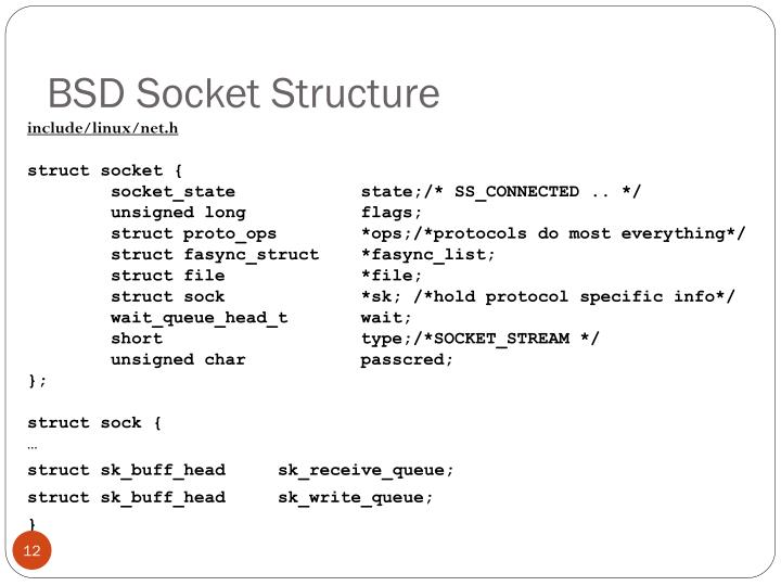 BSD Socket Structure