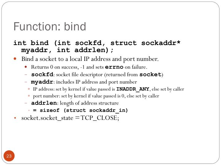 Function: bind