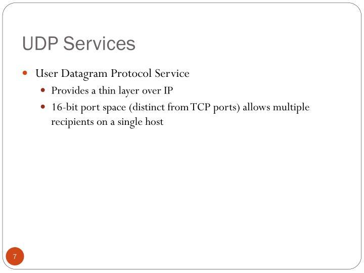 UDP Services