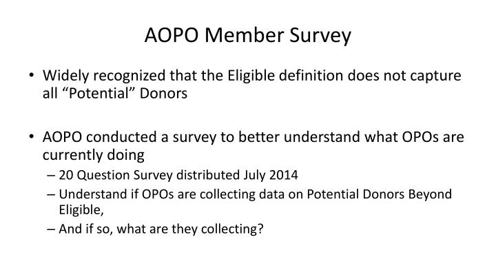 AOPO Member Survey
