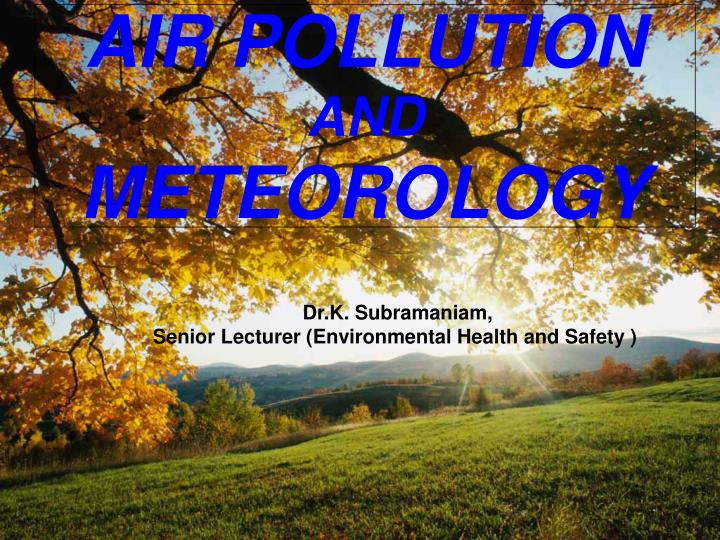 air pollution and meteorology
