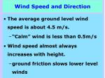 wind speed and direction1