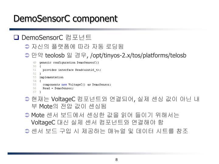 DemoSensorC component