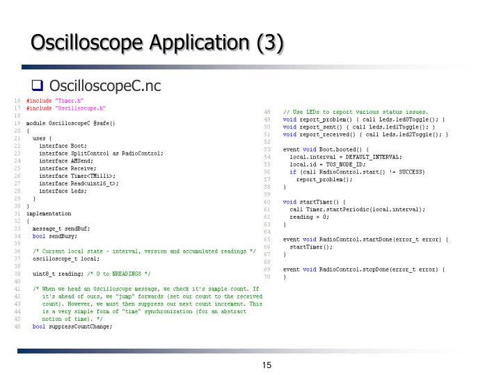 Oscilloscope Application (3)