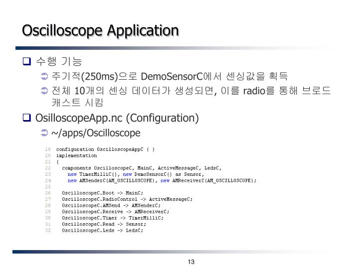 Oscilloscope Application