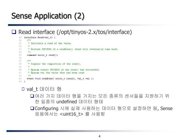 Sense Application (2)