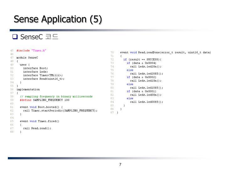 Sense Application (5)
