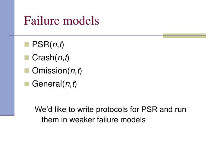 Failure models