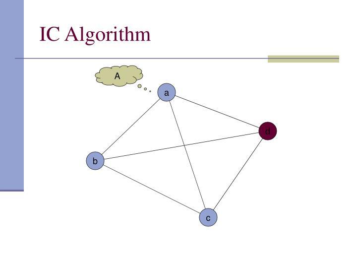 IC Algorithm